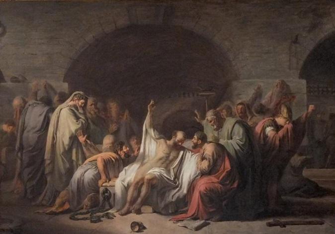 La mort de Socrate by Jean Pierre Saint-Ours on artnet