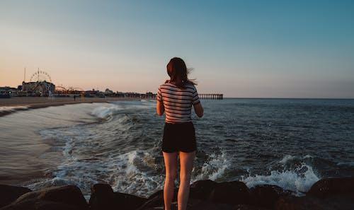 Photo gratuite de bord de mer, côte, détente