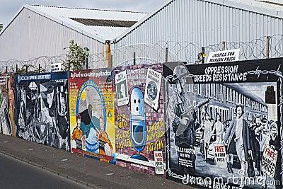 Peintures Murales De Mur De Paix De Belfast Photo ...