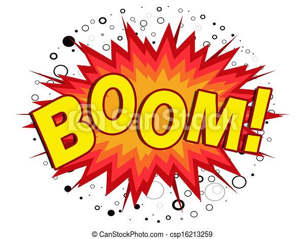 Illustrations de boom! - jaune, dessin animé, boom ...