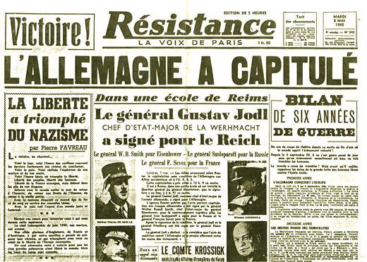 8 mai 1945 : la guerre est -presque- finie