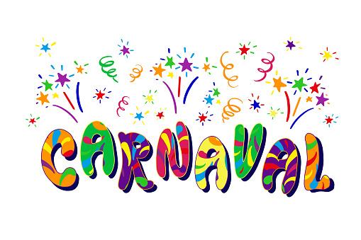 Carnaval Carnaval Fête Illustration De Couleur La Main ...