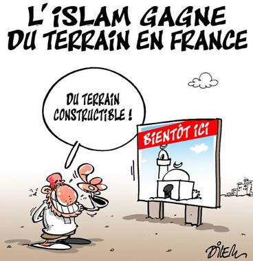 L'islam gagne du terrain en France | Caricatures et humour ...