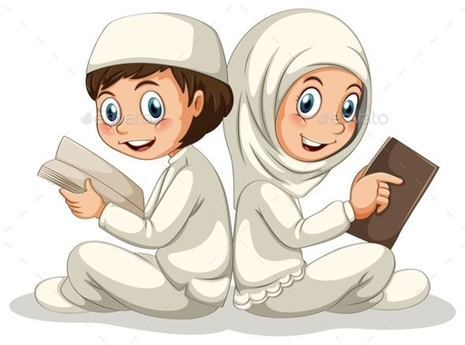Muslim (JPG Image, Vector EPS, CS, books, boy, cartoon ...