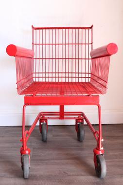 Fauteuil chariot de supermarché rouge …   brico-déco-récup ...