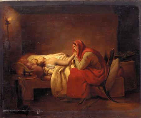 Le jeune malade. Ary SCHEFFER (1795 - 1858)