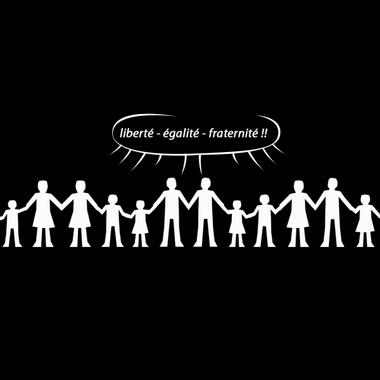 Le visuel : liberté égalité fraternité - un visu ...