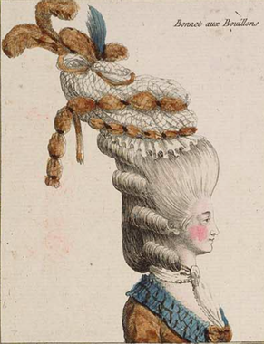 Marie antoinette's poufs were wildly famous during the mid ...