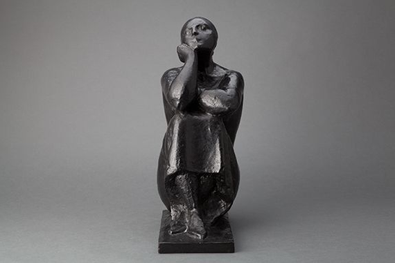 Chana Orloff Deborah Poetesse, 1940 Bronze, 5/8 17.25 x 6 ...