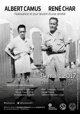 Soirée Albert Camus – René Char en Sorbonne - La ...