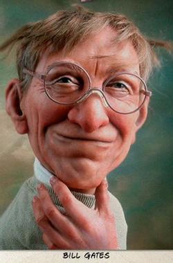 Bill Gates #Caricature #FunnyFaces | Celebrity caricatures ...