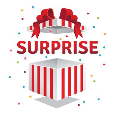Boîte cadeau surprise surprise | Télécharger des Vecteurs ...