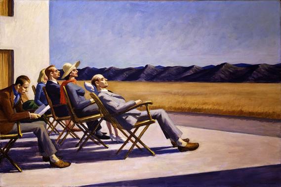 Pierre-Gilles-Aquarelles: Edward Hopper,peintre américain.