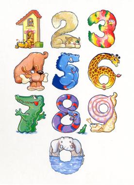 Dessins en couleurs à imprimer : Tous les chiffres, numéro ...