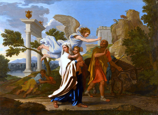 The Flight into Egypt (Poussin) - Wikipedia