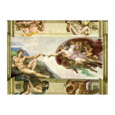 Tableau La Création d'Adam Michel-Ange 75 x 55 cm ...