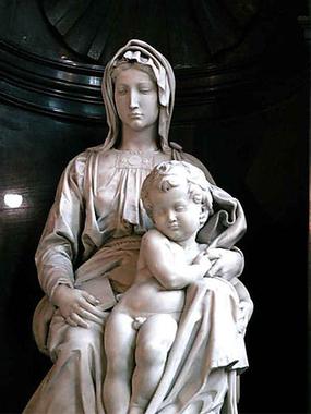 La Vierge à l'Enfant à Bruges - Sculpture de Michel Ange ...