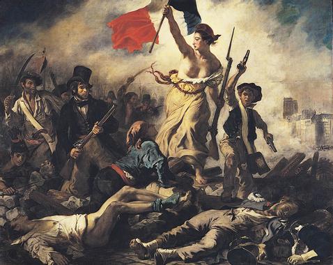 Image Eugene Delacroix - La Liberté guidant le peuple ...