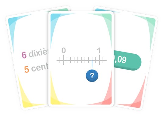 Numericards | Jeu educatif, Fractions et Apprentissage