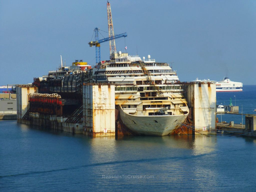 The Wreck Of Costa Concordia in Genoa | Reasons To Cruise