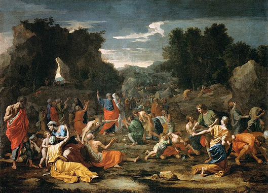 File:Poussin, Nicolas - The Jews Gathering the Manna in ...