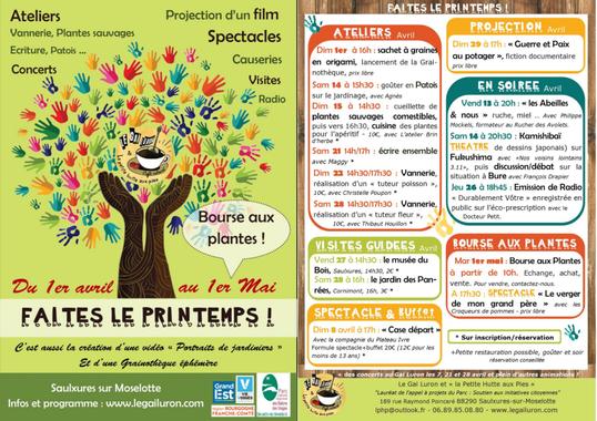 """Saulxures-sur-Moselotte - """"Faites le Printemps"""" du 1er ..."""