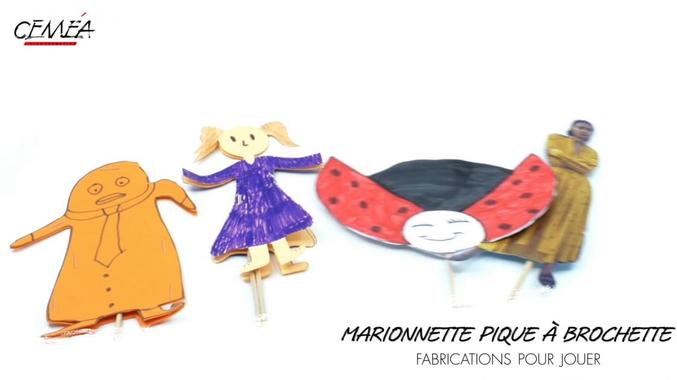 Fabrication pour jouer. Marionnette pique à brochette ...