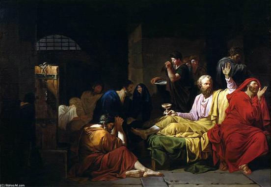 La Mort de Socrate, 1788 de Jean François Pierre Peyron ...