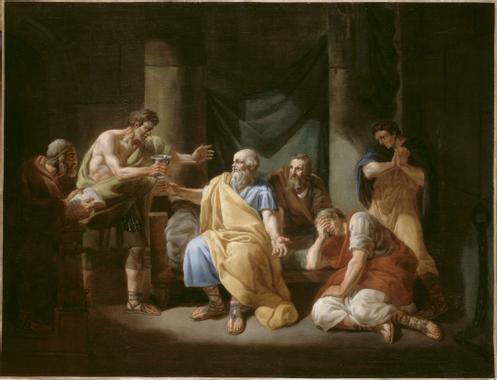 François Louis Joseph Watteau   La Mort de Socrate ...