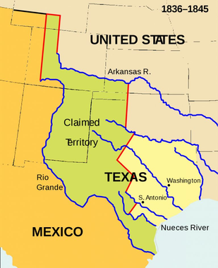 Texas Annexation - Wikipedia - Texas Independence Map ...