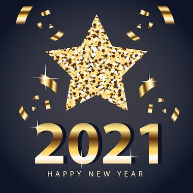 Bonne Année 2021 Avec Un Design De Style étoile Et ...