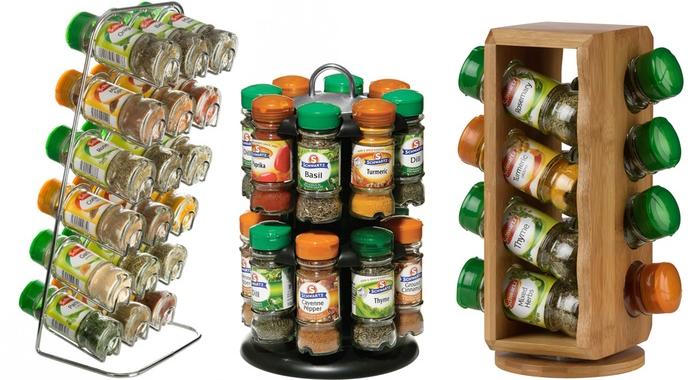 Spice Racks With Schwartz Jars | Groupon Goods