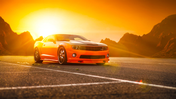 Download Chevrolet Camaro Ss Orange Wallpaper